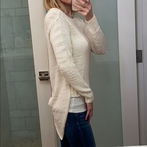 HP! EUC Rachel Zoe asymmetrical hem sweater